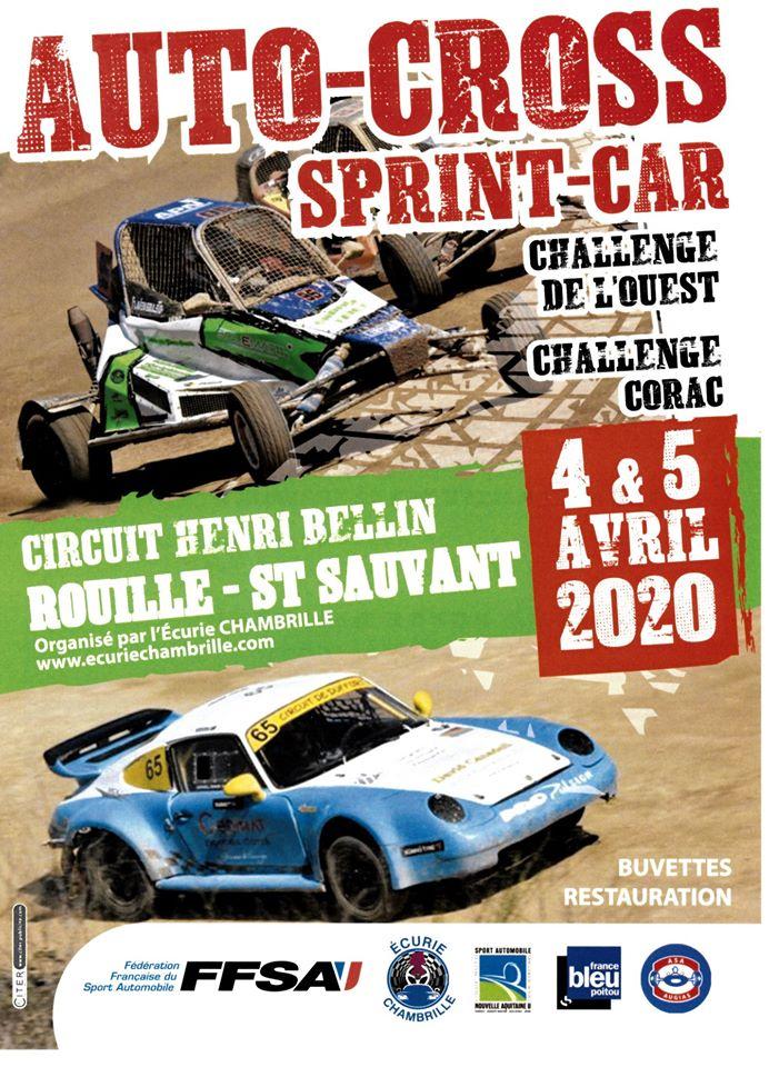 Engagement Autocross Sprintcar Rouillé 4/5 Avril